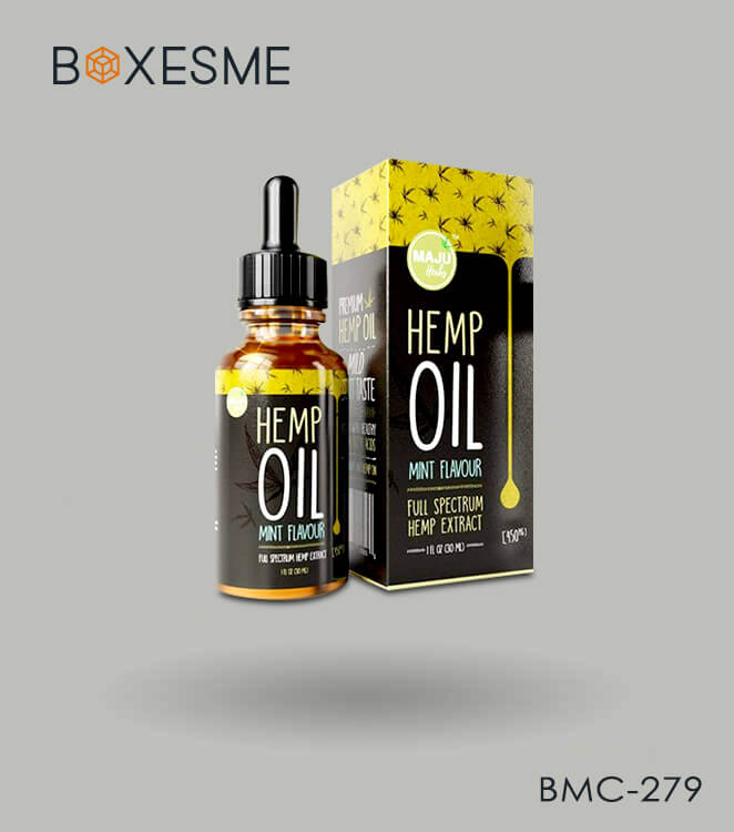 Custom Hemp Oil Box Packaging
