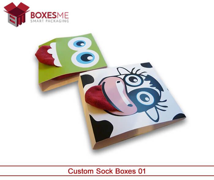 Custom Socks Packaging - Wholesale Printed Socks Packaging Boxes