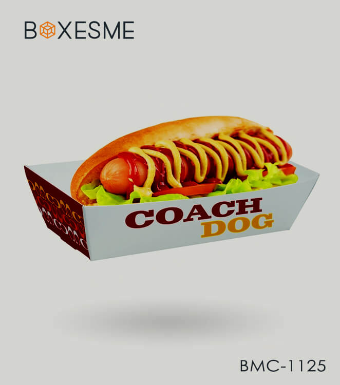 Custom hot dog tray packaging1