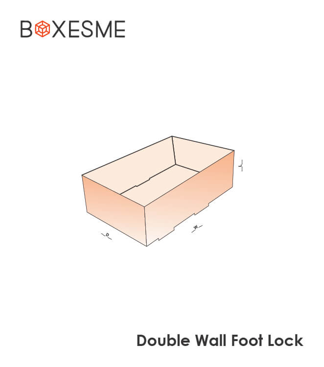 Double Wall Foot Lock Boxes