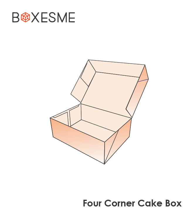 FOur Corner Cake Box Wholesale