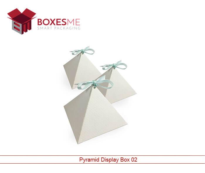 Pyramid Display Box   Printed Pyramid Display Boxes - BoxesMe