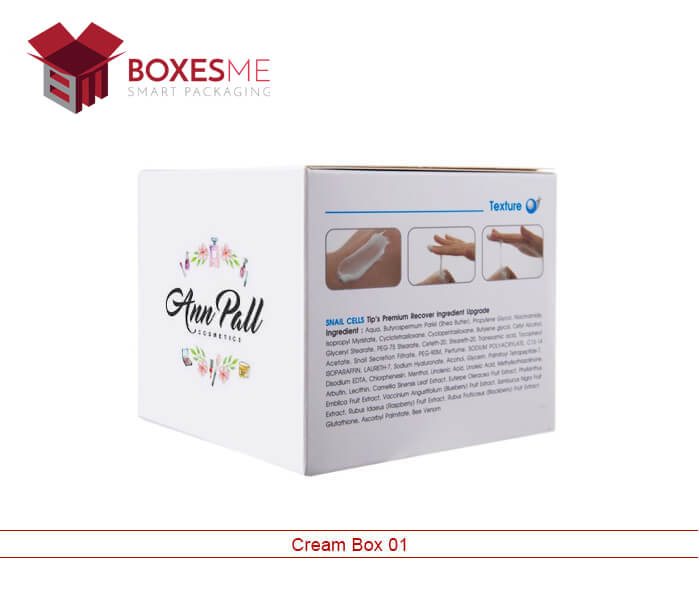 Custom Cream Boxes